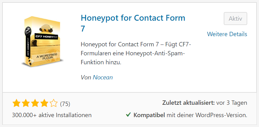 Honeypot for Contact Form 7