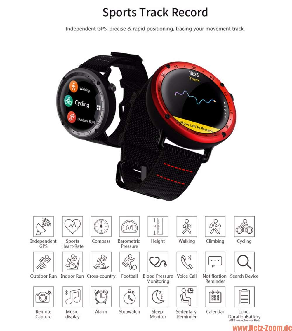 Lemfo LF22 Smartwatch Display