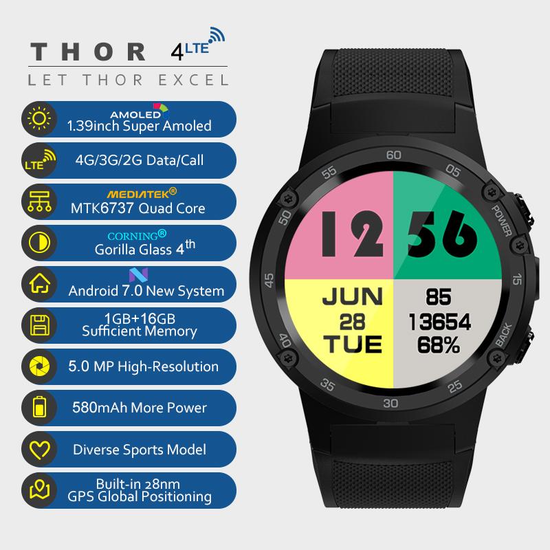 Thor 4 Smartwatch mit Highend Ausstattung